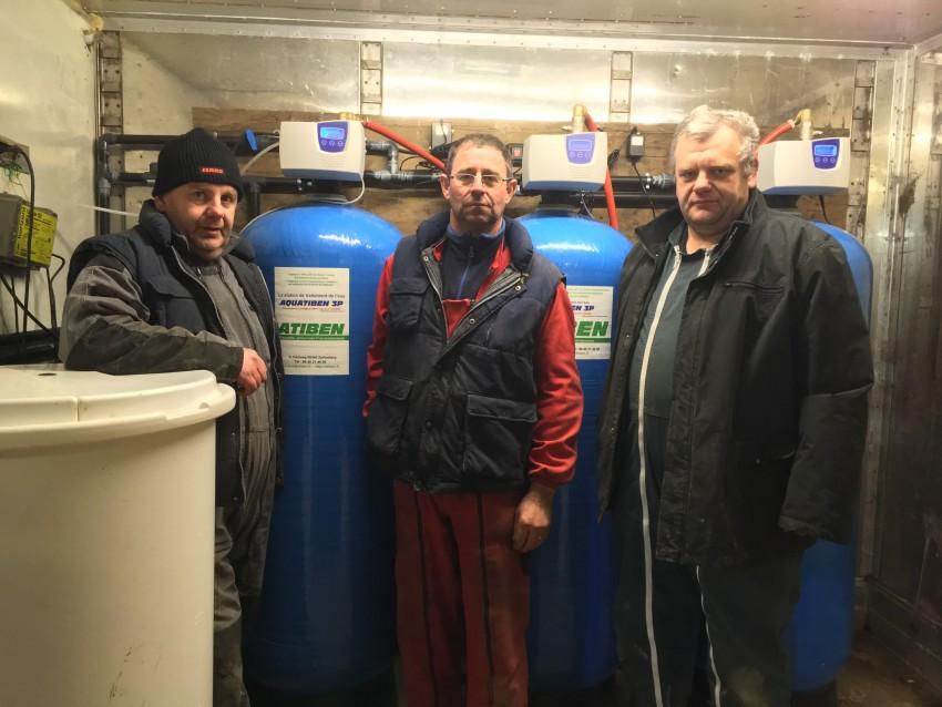 Station de filtration et traitement d'eau pour l'abreuvement des animaux. Une production laitière augmentée au GAEC Moreau Lucot !